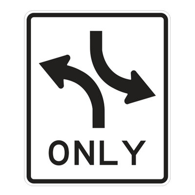 R3-9A - TWO-WAY LEFT TURN ONLY - 30X36