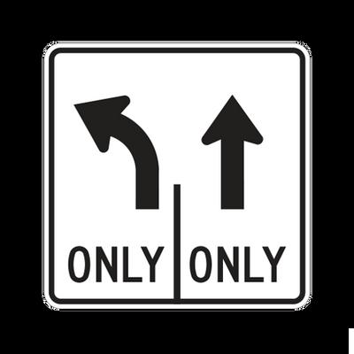 R3-8A(L-S) - LANE USE CONTROL (TWO LANES) - 30X30