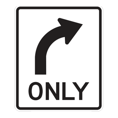 R3-5R - Right Turn Only - 30x36