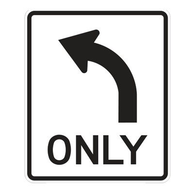 R3-5L - Left Turn Only - 30x36