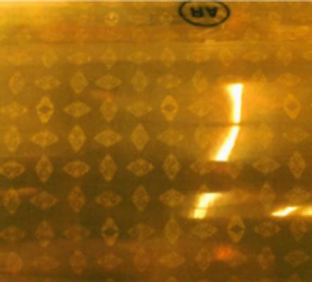 "Sheeting Amber AR1000 3"" x 12"""