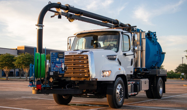 Non-CDL 3-Yard Combination Vacuum Truck (Single Barrel)