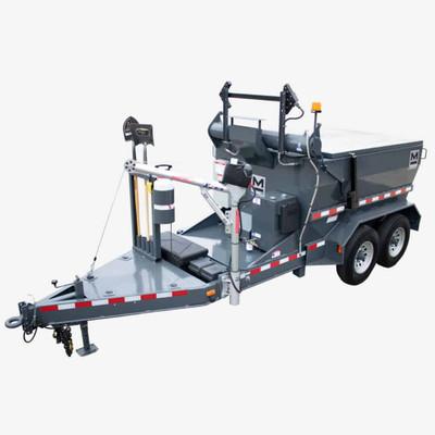 Marathon HMT8000ODL 4-Ton Asphalt Hot Box, Oil Jacketed, Diesel with Hydraulic Dump, Flashing Arrow Stick - SN H190035