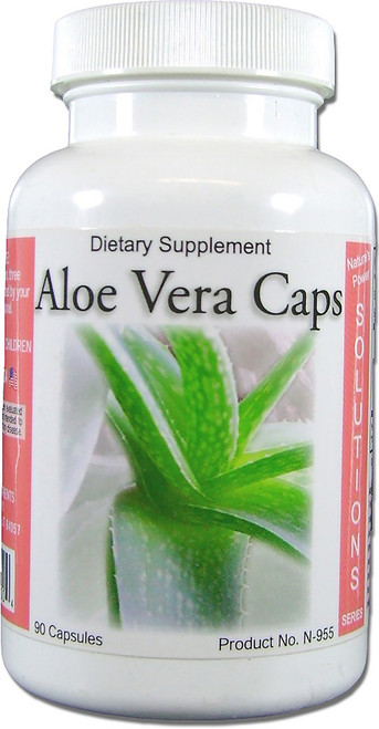 Aloe Vera Caps   Digestion and Blood Diabetic Support 90