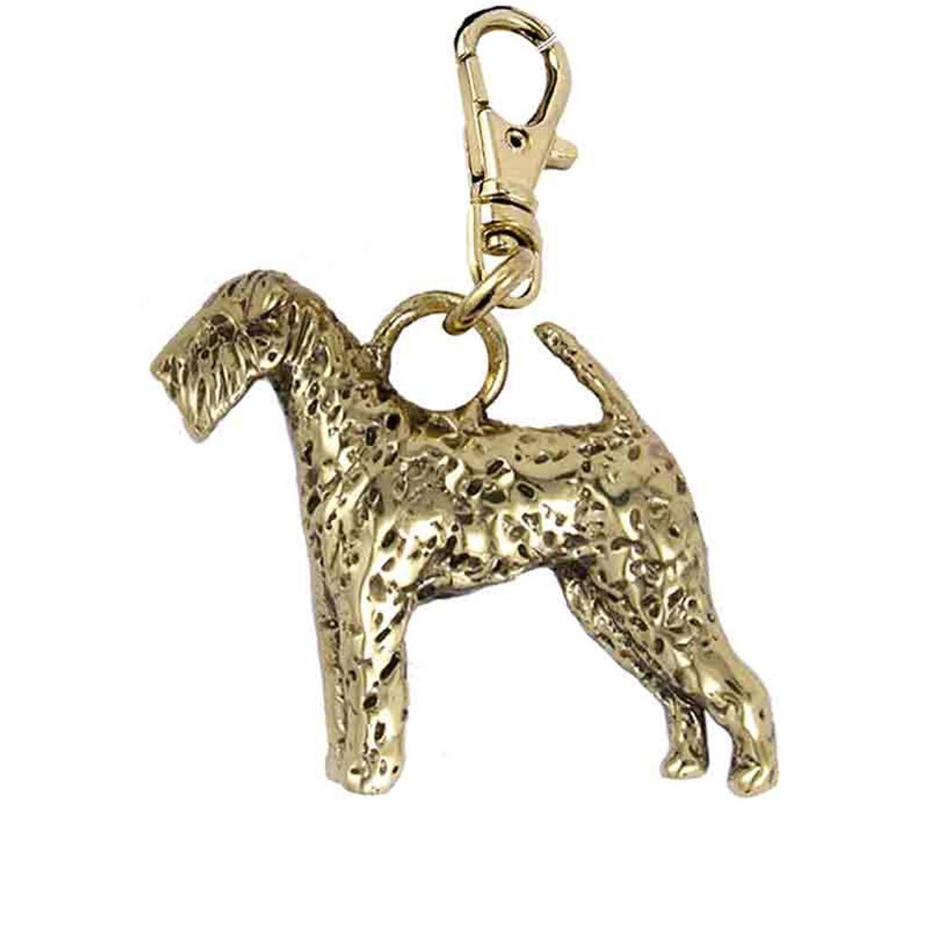Airedale Terrier Brass Zipper Pull