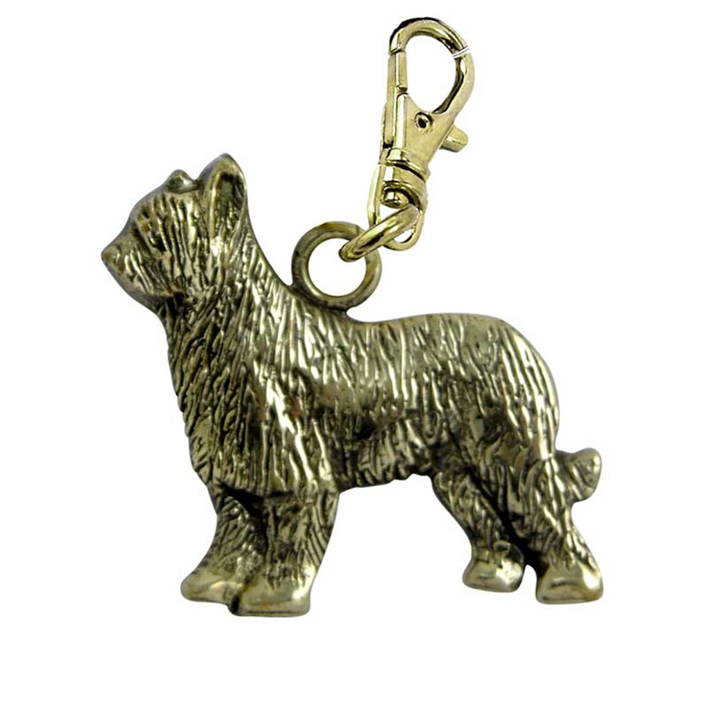 Briard Brass Zipper Pull