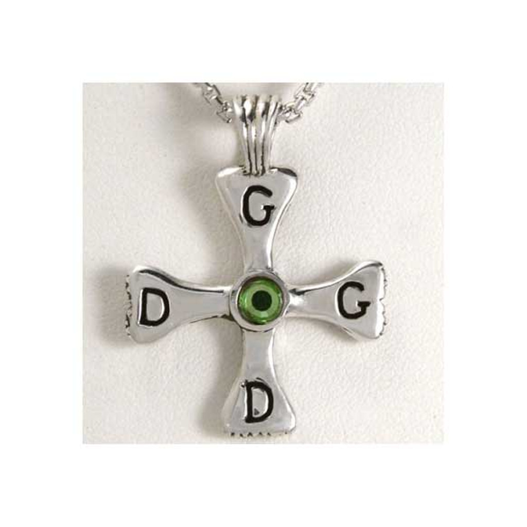 God Dog Cross Pendant
