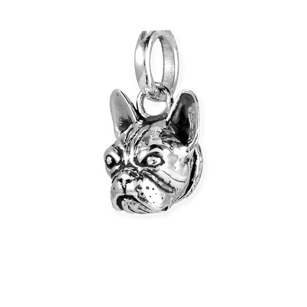 French Bull Dog Head Pendant