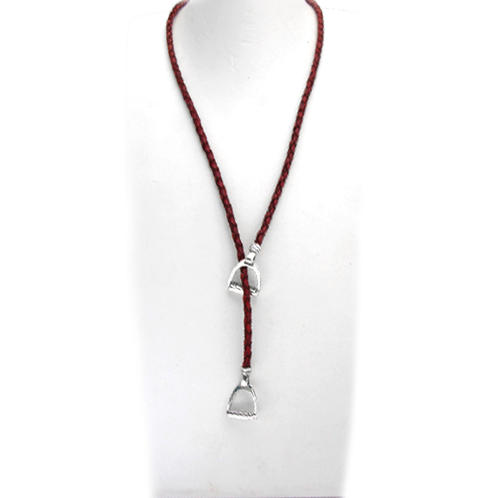 Stirrup Lariat Necklace full length