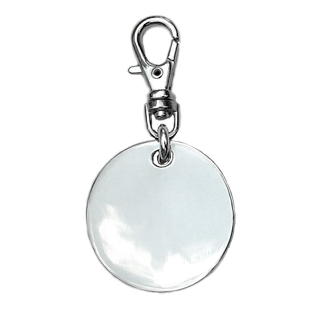 Sterling Silver Round Disc ID Tag - engrave both sides