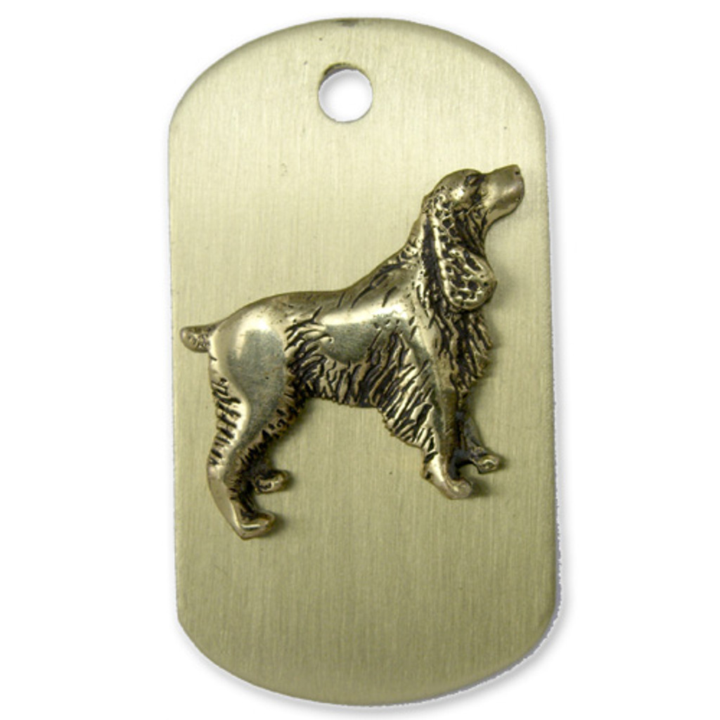 Brass ARF Tag with Springer Spantial - vertical