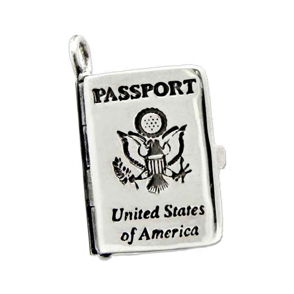 Passport Locket Charm