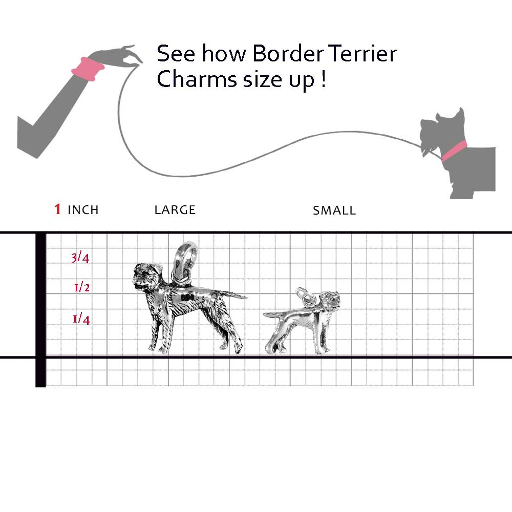 Border Terrier Charms compared