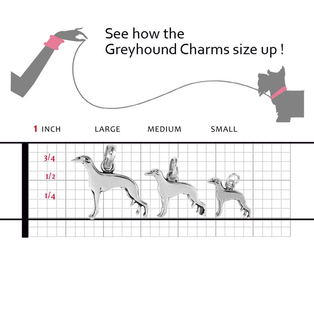 Greyhound Large Charm