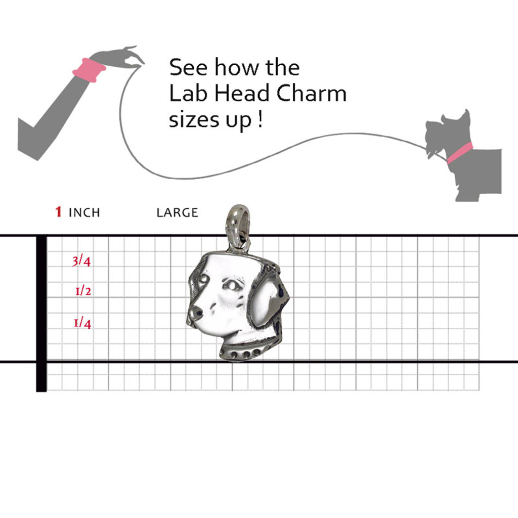 Labrador Head Large Charm