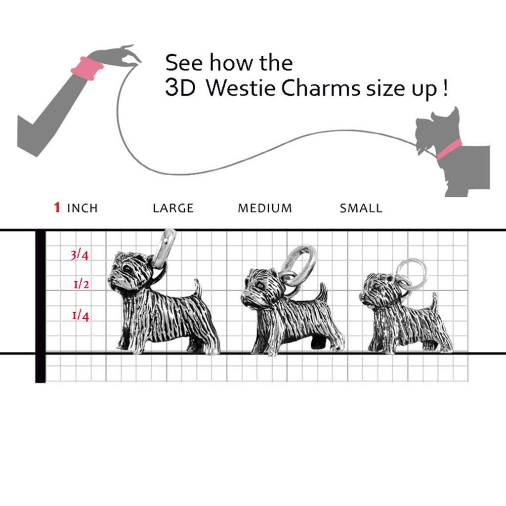 a87ab79d1 3D Westie Charm   Sterling Silver 3D Westie Jewelry   Bracelets ...