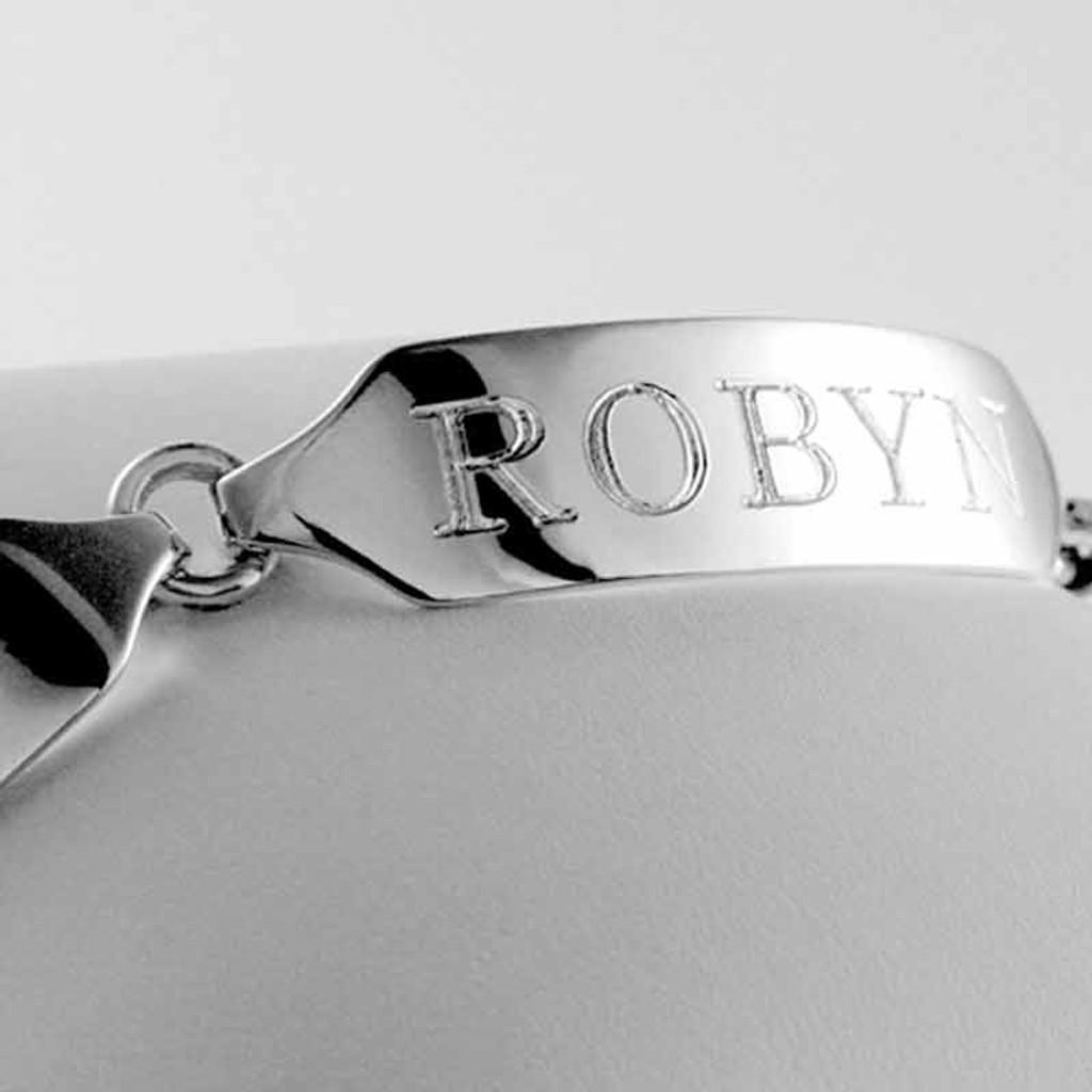 Engravable Sterling Silver ID Bracelet
