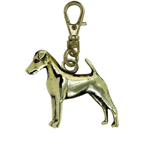 Smooth Fox Terrier Brass Zipper Pull