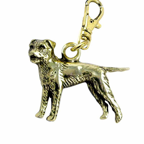 Border Terrier Brass Zipper Pull