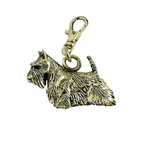 Scottish Terrier Brass Zipper Pull