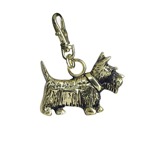 Scottie Brass Zipper Pull