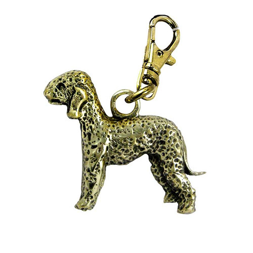 Bedlington Terrier Brass Zipper Pull