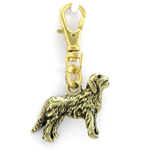 Goldendoodle Brass Zipper Pull