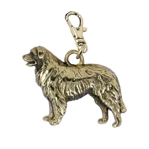 Leonberger Brass Zipper Pull
