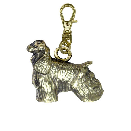 Cocker Spaniel Brass Zipper Pull