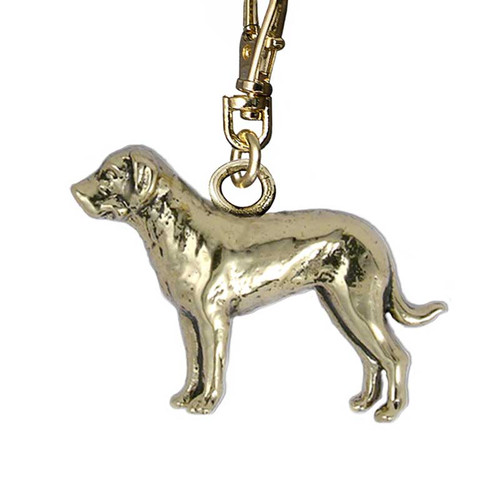 Great Pyrenees Brass Zipper Pull