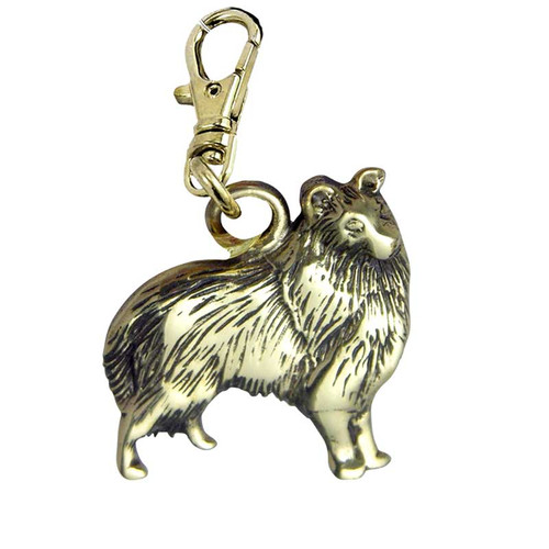 Collie Brass Zipper Pull