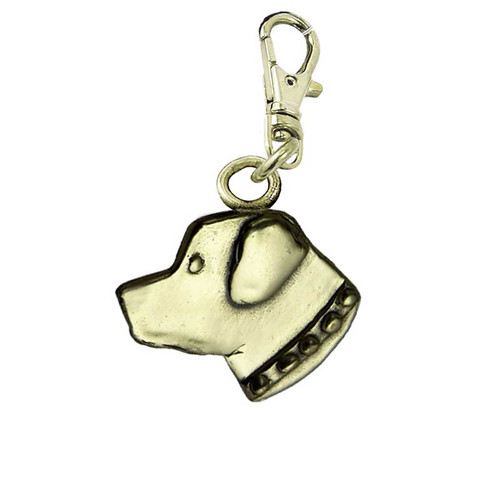 Rottweiler Head Brass Zipper Pull