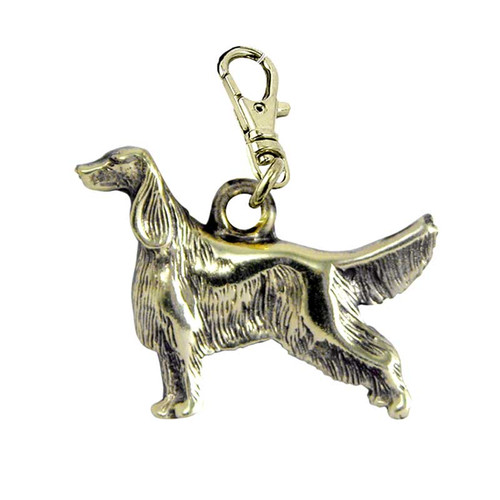 Irish Setter Brass Zipper Pull