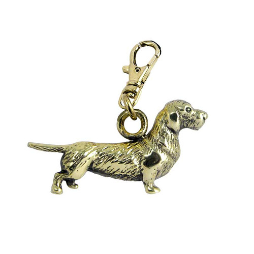 Dachshund Wire Hair Brass Zipper Pull