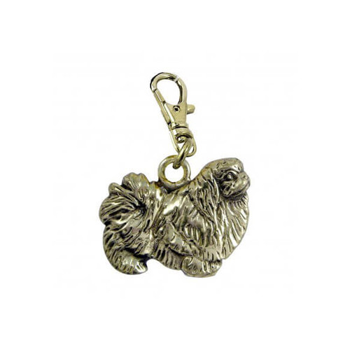 Pekingese Brass Zipper Pull