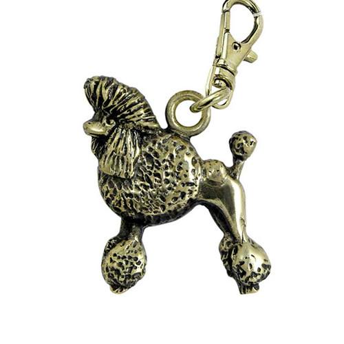Poodle Show Cut Brass Zipper Pull