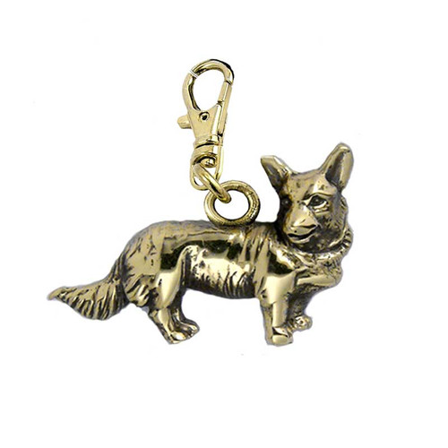 Corgi Brass Zipper Pull - Cardigan