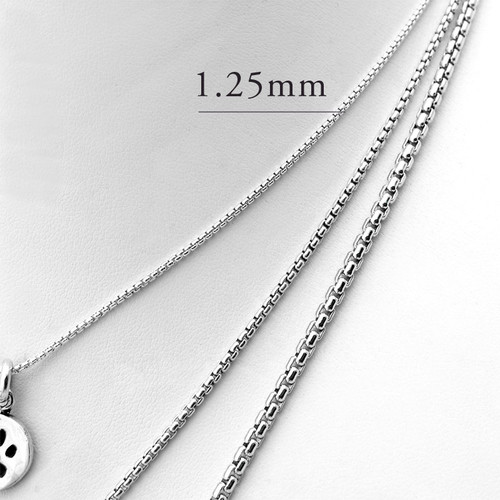 1.25mm chain for Small or Medium Charms