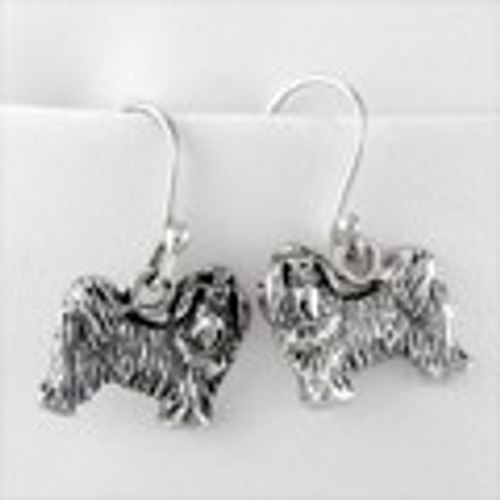 Maltese Puppy Earrings