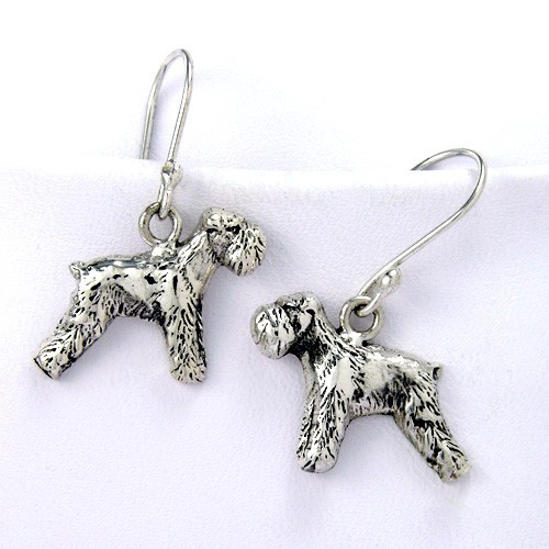 Schnauzer Euro Earrings
