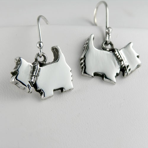 Scottie Dog Logo Earrings