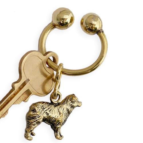 Classic U Key Ring Brass