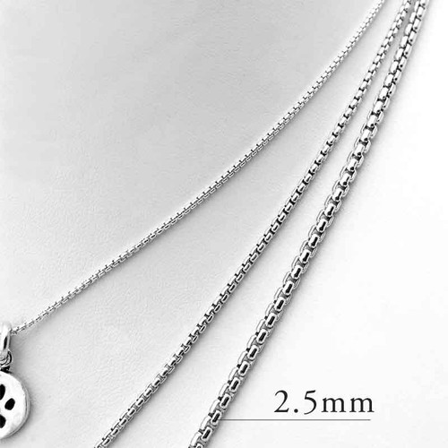 Rounded Box Chain Necklace 2.5mm