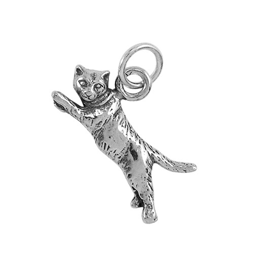 Flying Cat Small Charm