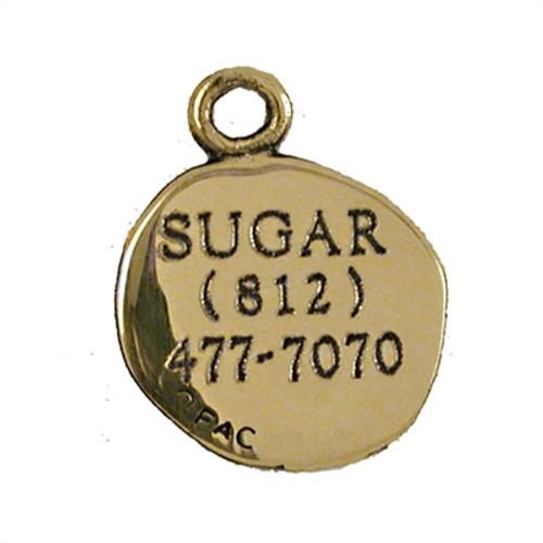 Paw Print ID Tag Brass