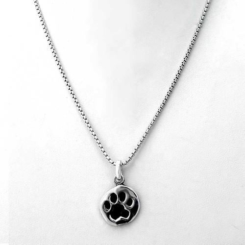 Paw Print Charm Necklace  Medium