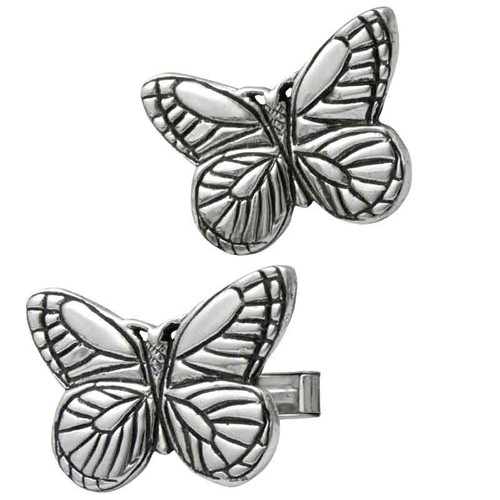 Butterfly Cufflinks in sterling silver