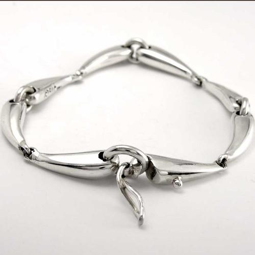 Sterling Silver Bit Bracelet clasp