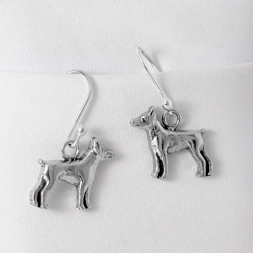 Rat Terrier Sterling Silver Earrings