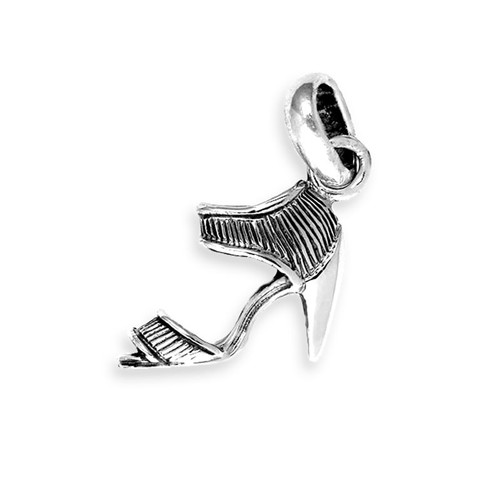 Blue Stretch High Heel Shoe Charm